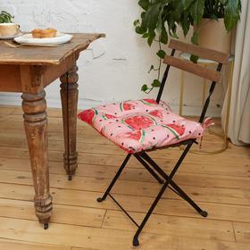 Сидушка на стул Этель «Арбузы» 42х42см, репс,пл.130 г/м², 100% хлопок