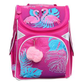 Ранец Стандарт GoPack 5001S, 34 х 26 х 13 см, Pink flamingoes