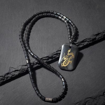 "Кулон ""Гематит"" змея, 50см"
