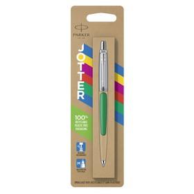 Ручка шариковая Parker Jotter Color М, корпус пластиковый, зелёный, синие чернила, блистер (2076058)