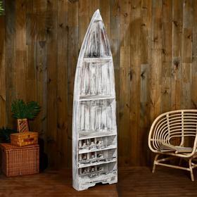 """Подставка под бутылки """"Лодка"""" 193х50х30 см, дерево албезия, серый"""