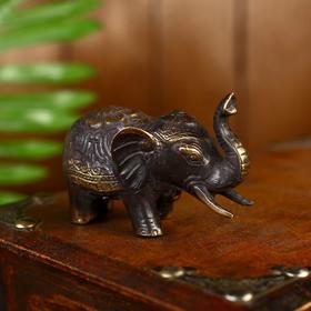 """Сувенир бронза """"Слон"""" 8,5х4,5 см"""