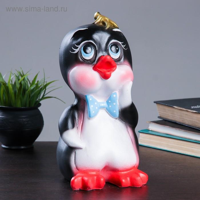 """Копилка """"Пингвинёнок"""" чёрная"""