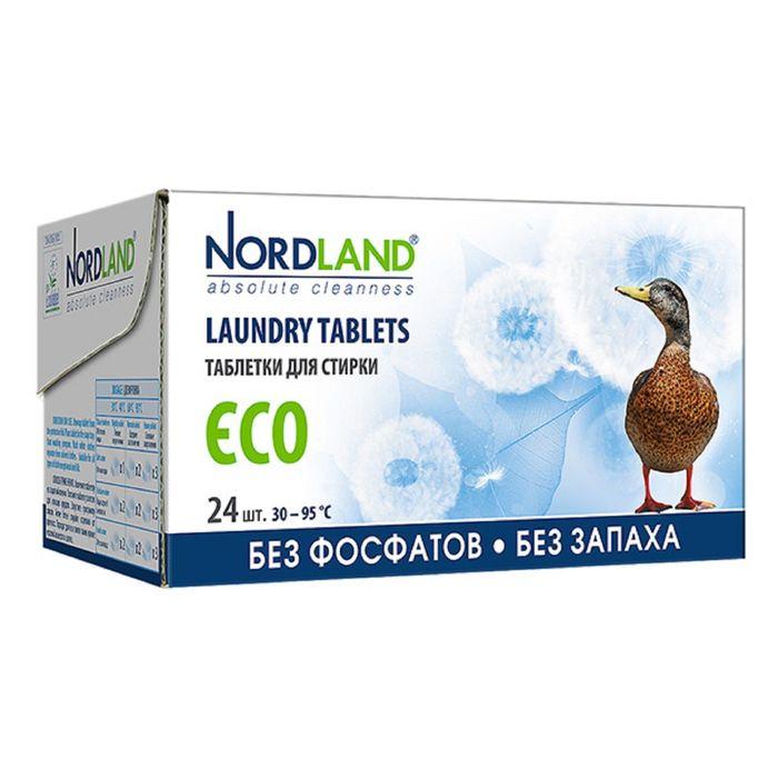 Таблетки для стирки Nordland Eco, 24 шт. × 33,75 г