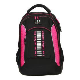 Рюкзак школьный, Kite 813, 40 х 28 х 16 см, эргономичная спинка, чёрный