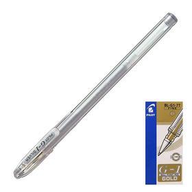 Ручка гелевая Pilot G1 0.7 мм, серебро BL-G1-7T