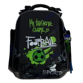 Рюкзак каркасный, Hummingbird TK, 37 х 26 х 18 см, 3D нашивка, «Футбол»