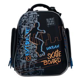 Рюкзак каркасный, Hummingbird TK, 37 х 26 х 18 см, 3D нашивка, «Скейт»