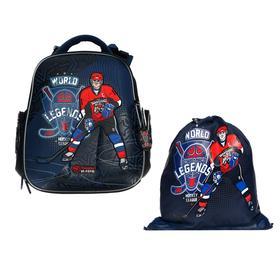 Рюкзак каркасный, Hummingbird TK, 37 х 32 х 18 см, с мешком для обуви, «Хоккеист»