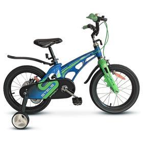 """Велосипед 18"""" Stels Galaxy, V010, цвет синий/зеленый"""