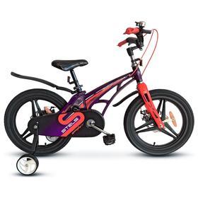 """Велосипед 18"""" Stels Galaxy, V010, цвет фиолетовый/красный"""