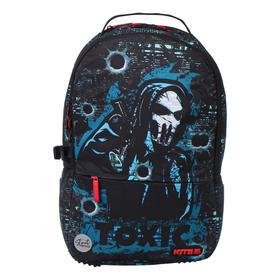 Рюкзак молодёжный эргономичная спинка, Kite 2569, 43.5 х 29.5 х 15, Сity, чёрный/зелёный