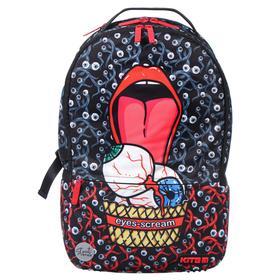 Рюкзак молодёжный эргономичная спинка, Kite 2569, 43.5 х 29.5 х 15, Сity, чёрный/красный