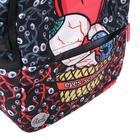 Рюкзак молодёжный эргономичная спинка, Kite 2569, 43.5 х 29.5 х 15, Сity, чёрный/красный - фото 838259
