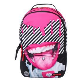 Рюкзак молодёжный эргономичная спинка, Kite 2569, 44.5 х 30 х 16, Сity, чёрный/розовый