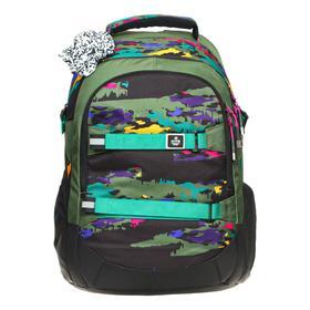 Рюкзак молодёжный эргономичная спинка, Kite 2576, 44 х 30 х 21, отделение для ноутбука, хаки