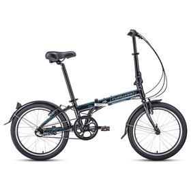 """Велосипед 20"""" Forward Enigma 3.0, 2021, цвет черный/серый, размер 11"""""""