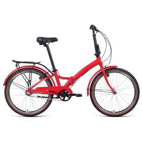 """Велосипед 24"""" Forward Enigma 3.0, 2021, красный матовый/белый, размер 14"""""""