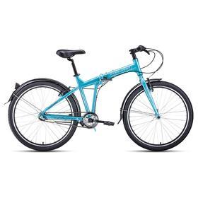 """Велосипед 26"""" Forward Tracer 3.0 disc, цвет бирюзовый/белый, размер 19"""""""