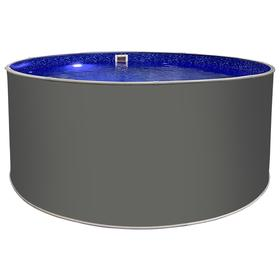 Круглый бассейн «ЛАГУНА» 3,66 х 1,25 м, цвет платина