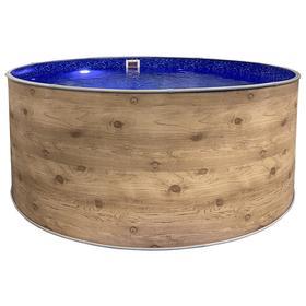 Круглый бассейн «ЛАГУНА» 3,66 х 1,25 м, цвет светлое дерево