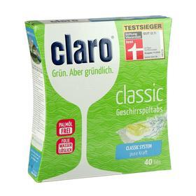 Таблетки для посудомоечных машин Claro Эко Классик, 40 шт