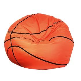 """Кресло-мешок """"Баскетбольный мяч"""", d110, цвет черный/оранжевый"""