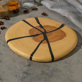 Спил ясеня, эпоксидная смола, диаметр 27 см