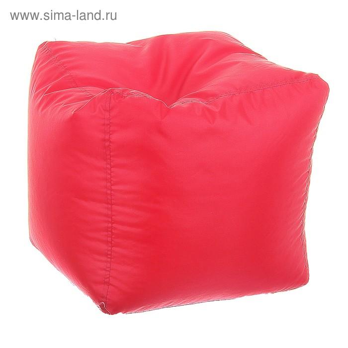 Пуфик-куб, 45х45 см, цвет красный
