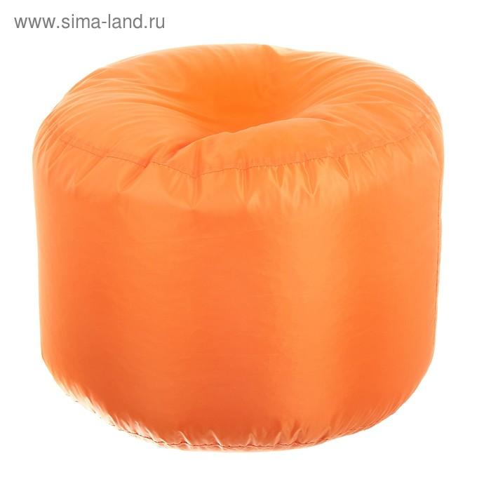 Пуфик круглый, d40см/h60см, цвет оранжевый