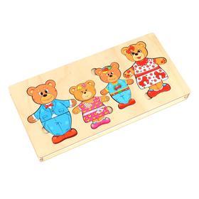 Конструктор-персонаж «Семья бурых медведей»