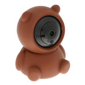 "Видеокамера WiFi LuazON CAM-02 ""Мишка"", управление со смартфона, 2 Мп, microSD, коричневая"