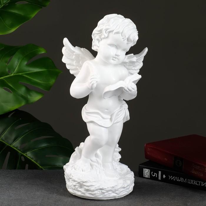 "Фигура ""Ангел с книгой"" белый 16х16х34см"