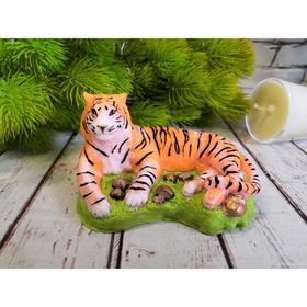Силиконовая форма для мыла «Тигр на траве»
