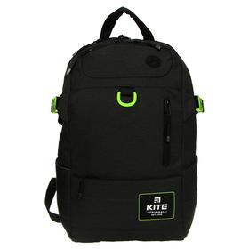 Рюкзак молодёжный эргономичная спинка, Kite 876, 45 х 30 х 16, Сity, темно-зелёный