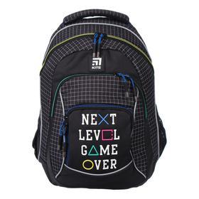 Рюкзак школьный, Kite 814, 40 х 30 х 15 см, эргономичная спинка, чёрный