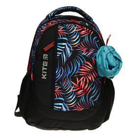 Рюкзак школьный, Kite 855, 40 х 30 х 17.5 см, эргономичная спинка, отделение для планшета, чёрный