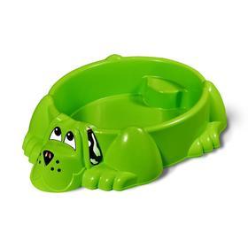 Песочница «Собачка», цвет зелёный