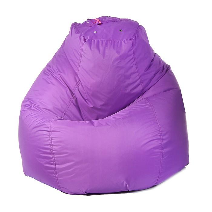 Кресло-мешок пятигранное, d82/h110, цвет фиолетовый