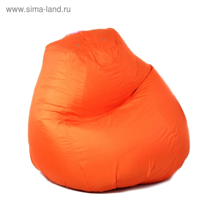 Кресло-мешок пятигранное, d82/h110, цвет оранжевый