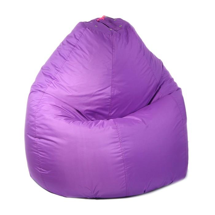 Кресло-мешок универсальное, d90/h120, цвет фиолетовый