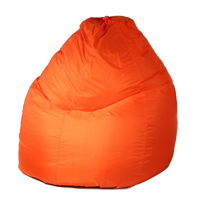 Кресло-мешок универсальное, d90/h120, цвет оранжевый