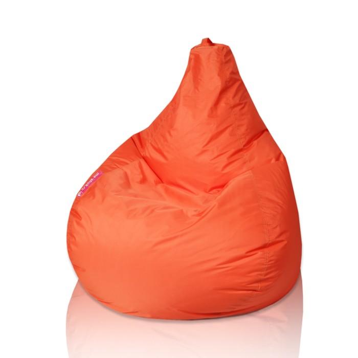 """Кресло-мешок """"Капля"""", S, d85/h130, цвет оранжевый"""