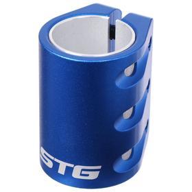 Зажим с проставкой для трюкового самоката на 3 болта для компрессии HIC, цвет синий