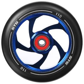 Колесо для трюкового самоката 110 мм с алюминиевым ободом, ABEC-11, 1шт, цвет синий