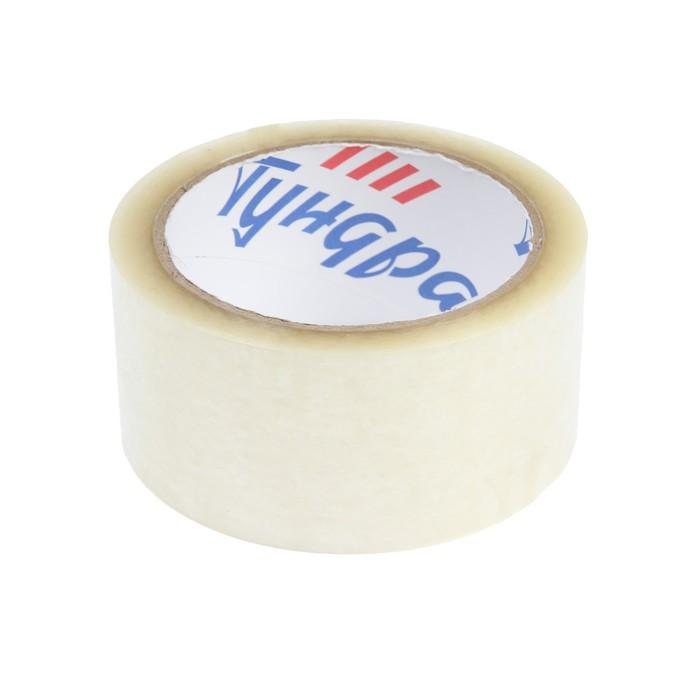 Лента клейкая TUNDRA, прозрачная, 40 мкм, 48 мм х 66 м - фото 9215575