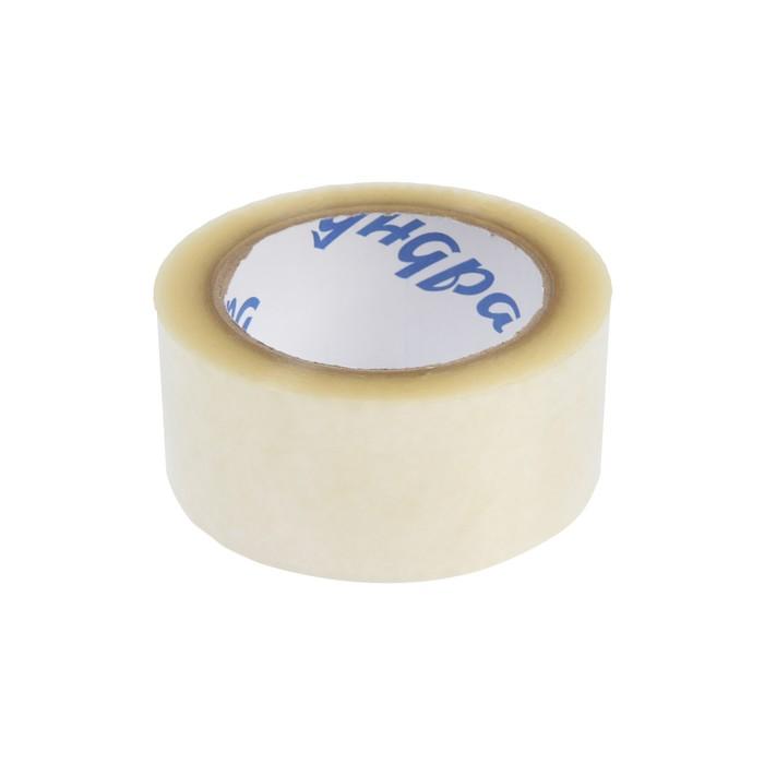 Лента клейкая TUNDRA, прозрачная, 40 мкм, 48 мм х 100 м - фото 9215577