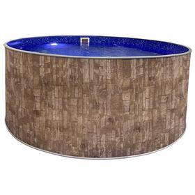 Круглый бассейн «ЛАГУНА» 3,05 х 1,25 м, цвет природный камень