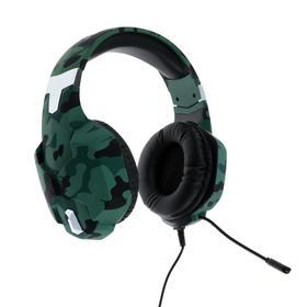 Наушники RITMIX RH-566M, игровые, полноразмерные, микрофон, 3.5 мм, 1.8 м, камуфляж