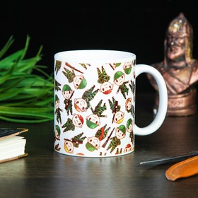 """Mug """"Soldiers"""", with application"""
